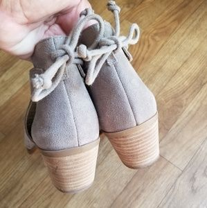 Lucky Brand Shoes - Lucky Brand Taupe Peep Toed Heeled Sandals